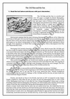 the old man and the sea the rime of the ancient mariner esl worksheet by mauteus