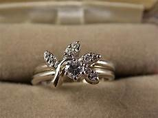 dainty 1960s era diamond wedding 36ctw size 6 white