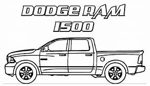 Dodge Car Ram 1500 Trucks Coloring Pages  Sky