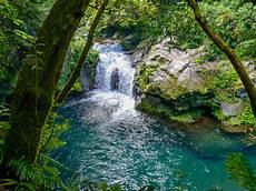 tropical waterfall the langevin river la reunion island