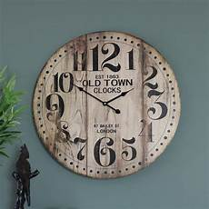 large wooden vintage style wall clock windsor browne