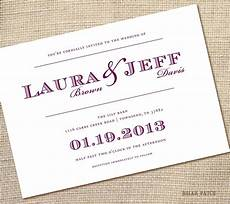 Simple And Wedding Invitations