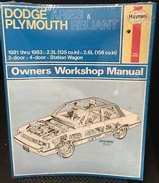 auto repair manual free download 1981 dodge aries security system factory sealed haynes manual dodge aries plymouth reliant k car 1981 83 723 ebay