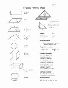 geometry worksheets for 8th grade 709 eighth grade math formula chart 8th grade formula sheet homeschooling work and more