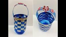 riciclare bicchieri di plastica tutorial cestino con una bottiglia di plastica riciclo