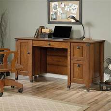 home depot office furniture sauder carson forge washington cherry computer desk 422032