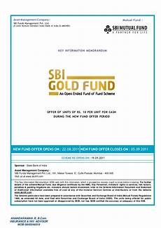 sbi gold fund nfo application form full with kyc form