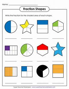 fraction shaded in worksheets 3980 fraction shapes 2 werty