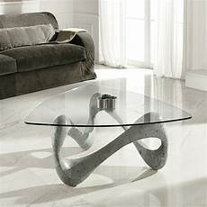 table basse design en verre table basse de design en verre et fossile california
