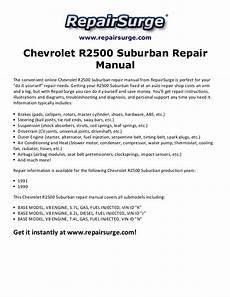 online car repair manuals free 2002 chevrolet suburban 1500 head up display chevrolet r2500 suburban repair manual 1990 1991