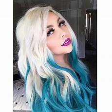 teal blue ombre dyed hair white ombre hair teal