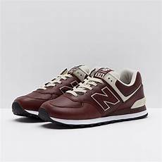 mens shoes new balance 574 leather brown ml574lpb