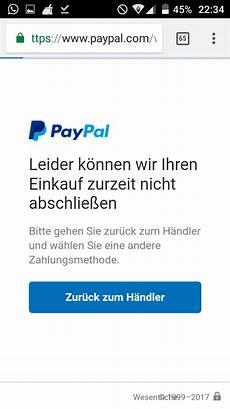 paypal zahlung klappt auf einmal nicht mehr trotz das