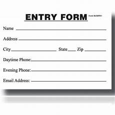 entry blank entry form pad my store