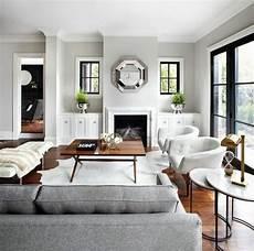 D 233 Co Salon Deco Salon Blanc Avec Un Canap 233 Gris