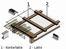 aufbau der unterkonstruktion der dachplattenprofi