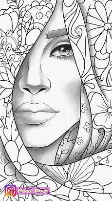 Malvorlagen Quality Coloring Page Portrait And Clothes Colouring