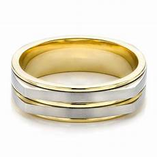 two tone mens wedding ring men s two tone wedding band 100153 seattle bellevue joseph jewelry