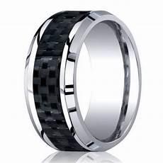8mm men s designer cobalt chrome wedding ring w carbon