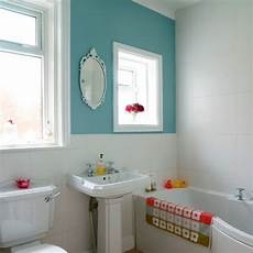 Bathroom Ideas Uk Small by Compact Bathroom With Colourful Feature Wall Small