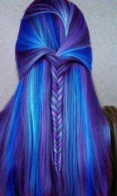 lila blaue haare lila blaue haare flechtfrisur blue purple hair