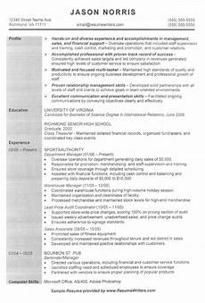 sle resume for someone in retail retail resume