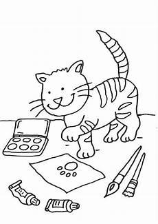 Ausmalbilder Katze Mit Babys Ausmalbild Katzen Katze Auf Dem Schreibtisch Ausmalen