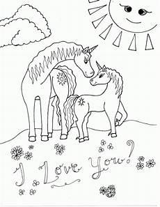 Unicorn Malvorlagen Kostenlos Vollversion Unicorn A Coloring Page Of Unicorn In The Sun