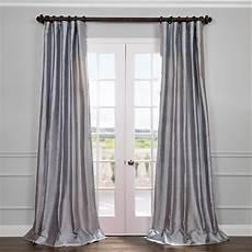 vorhang grau blau blue grey curtains silk half price drapes