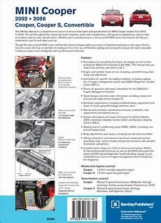 auto repair manual online 2006 mini cooper on board diagnostic system back cover mini repair manual mini cooper mini cooper s 2002 2006 bentley publishers