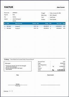contoh faktur penjualan software zahir accounting