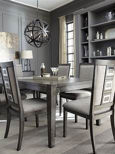 chadoni gray rectangular extendable dining room d624