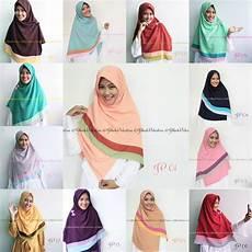 Kreasi Jilbab Segi Empat 2 Warna Ide Perpaduan Warna
