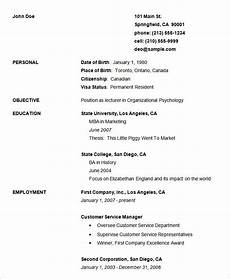 70 basic resume templates pdf doc psd resume template exles basic resume resume