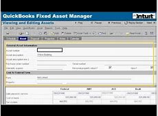 fixed asset list in quickbooks