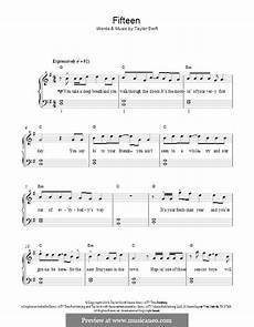 15 second music free download fifteen by t swift sheet music on musicaneo