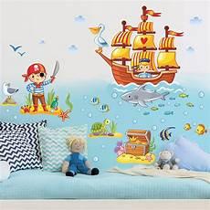 Wandtattoo Kinderzimmer Piraten Set