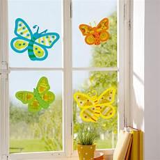Basteln Mit Kindern Sommer Fenster - fensterbilder schmetterlinge bastelset f 252 r 8 st 252 ck jako o