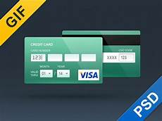 card template animation credit card skeuomorph flat and contour by alexey