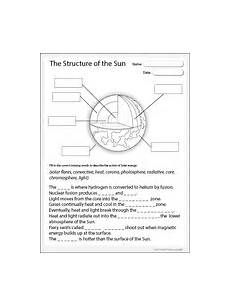 layers of the sun worksheet studyladder literacy mathematics
