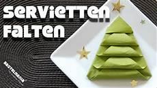 Servietten Falten Anleitung Tannenbaum Weihnachten Diy