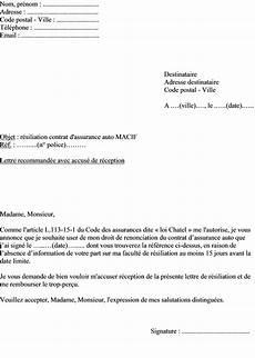 Exemples De Mod 232 Les Exemple Lettre Resiliation Assurance