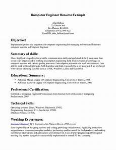 resume objective exles computer engineer tipss und