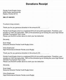 church donation letter for tax purposes template