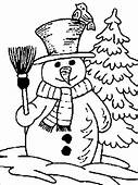 Real Snowman Winter Coloring Pages  For