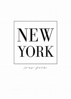 black and white new york poster with text