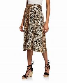 Faithfull The Brand Valois Leopard Midi Skirt Neiman