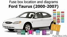 ford tourus 2007 fuse box breakdown fuse box location and diagrams ford taurus 2000 2007