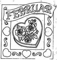 Malvorlagen Herz Winter Februar Mit Herz Ausmalbild Malvorlage Monatsbilder
