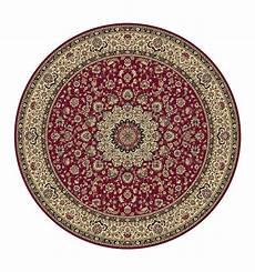 tappeto rotondo tappeto isfahan classico rotondo medaglione rosso 12217